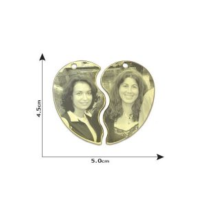 Friendship Heart Photo Pendant