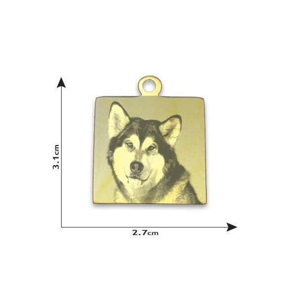 Square Photo Pendant