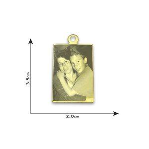Ring Rectangle Photo Pendant