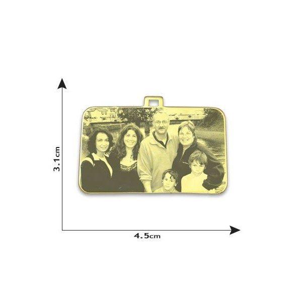 Family Rectangle Photo Pendant
