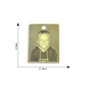 Mini Rectangle Photo Pendant