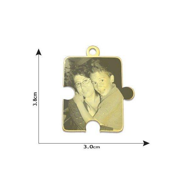 Jigsaw Puzzle Photo Pendant