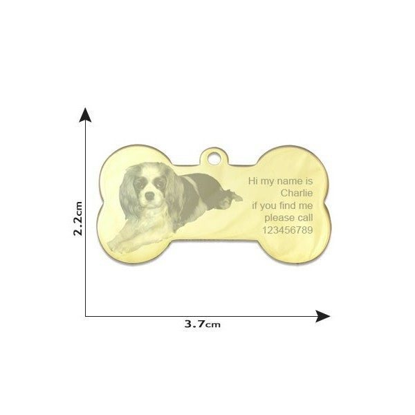 Pet tag / Dog Bone Photo Pendant - Large
