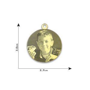 Circle Photo Pendant