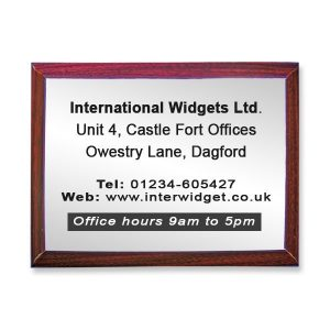 Large commemorative plaque
