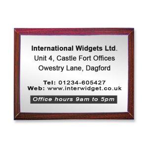 Large commemorative plaque