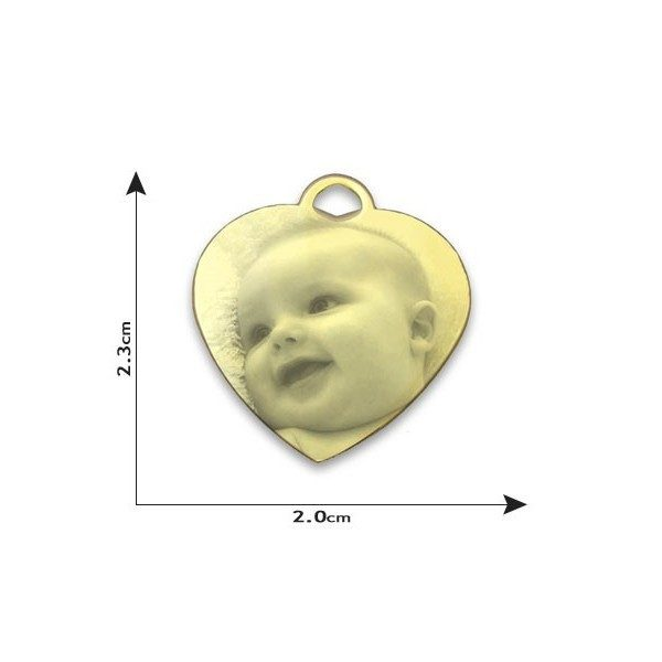 Small Heart Photo Pendant