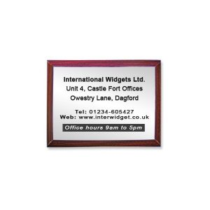 Large Rectangle Bevelled Rosewood Surround