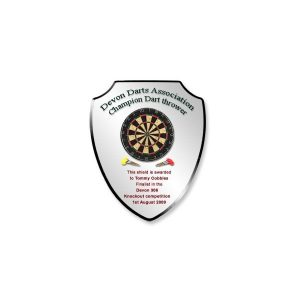 Shield Plaque Black Bevelled Surround
