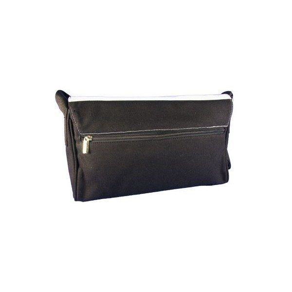Day Handbag in Black Cotton