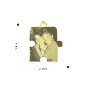 Jigsaw Puzzle Photo Pendant