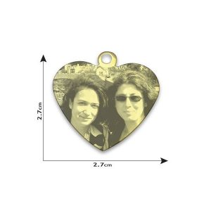 Medium Heart Photo Pendant