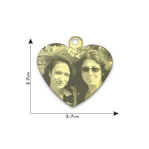 Medium Heart Photo Pendant
