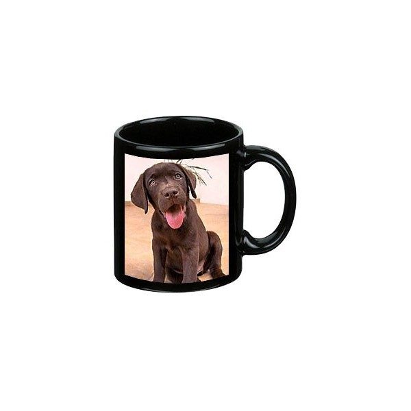 Photo Coffee Mug in Black