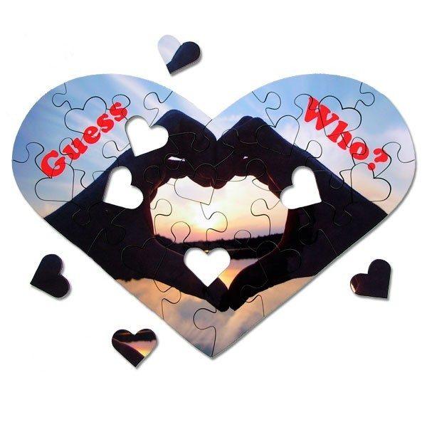 Heart Shape Photo Jigsaw