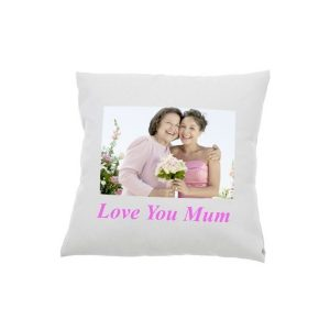 White Photo Cushion Cover