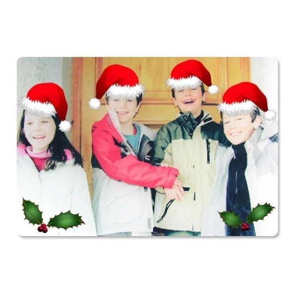 Xmas Glass Photo Chopping Board