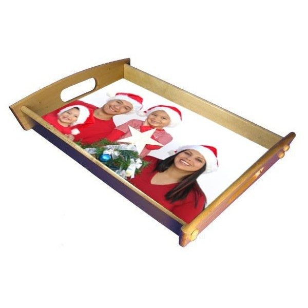 Xmas Photo Drinks Tray