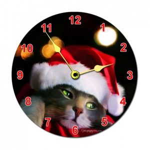 Xmas Round Photo Wall Clock