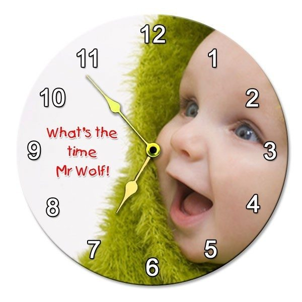 Round Photo Wall Clock