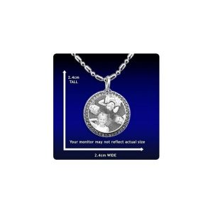 Photo engraved Pendant - Diamante Round Jewellery