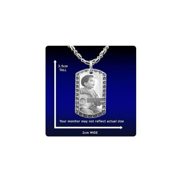 Photo Pendant - Diamante ID-Tag - Small