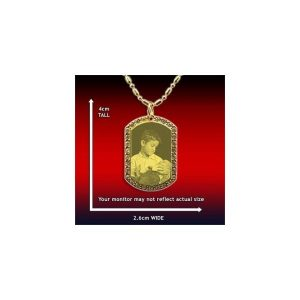 Photo Pendant - Diamante ID-Tag - Small and Wide