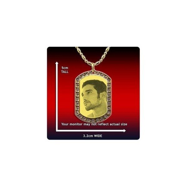Photo Pendant - Diamante ID-Tag - Medium and Wide