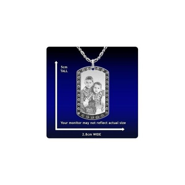 Photo Pendant - Diamante ID-Tag - Medium Long