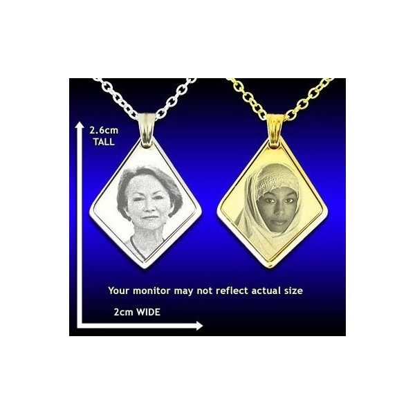 Deluxe Bevelled Diamond Drop Photo Pendant
