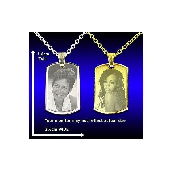 Deluxe Bevelled Dog Tag Photo Pendant