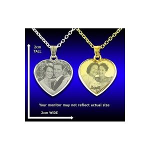 Deluxe Bevelled Heart Photo Pendant