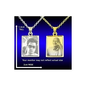 Deluxe Bevelled Rectangular Photo Pendant