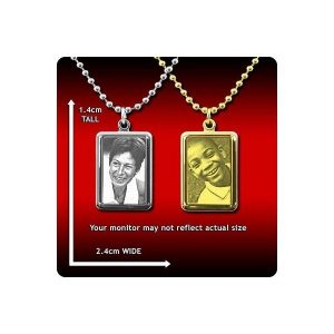 Small Mounted Portrait Photo Pendant