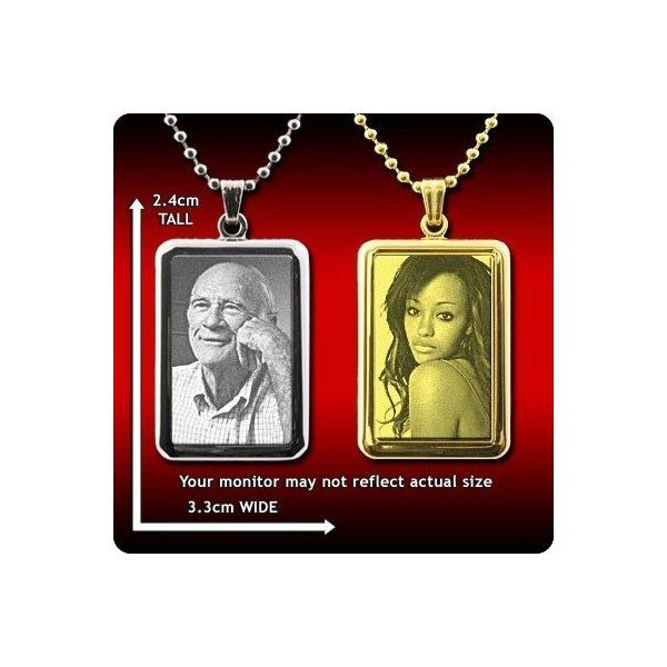 Large Mounted Portrait Photo Pendant
