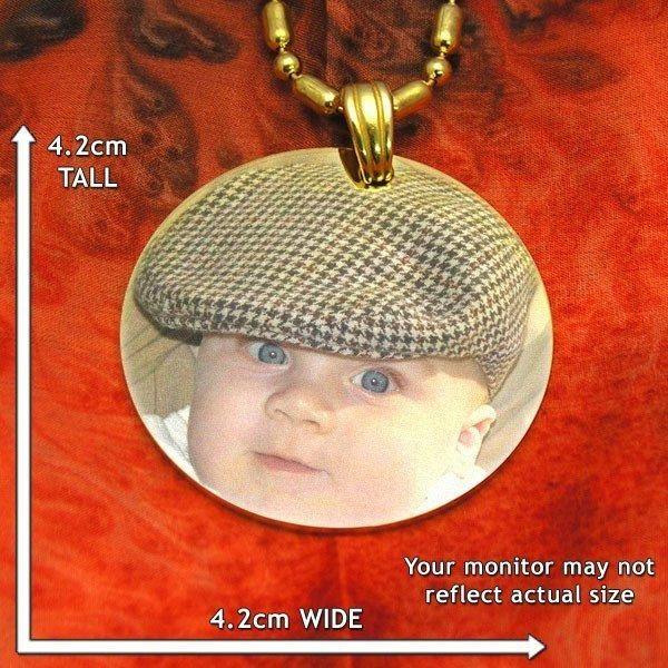 Large Circle Colour Photo Pendant