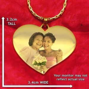 Luxury Heart Colour Photo Pendant