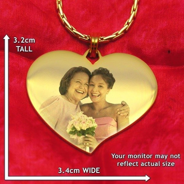 Luxury Heart Colour Photo Pendant