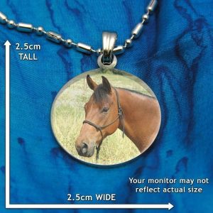 Small Circle Colour Photo Pendant