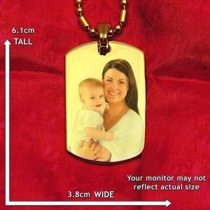 Large ID-Tag Colour Photo Pendant