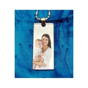 Long Rectangle Colour Photo Pendant