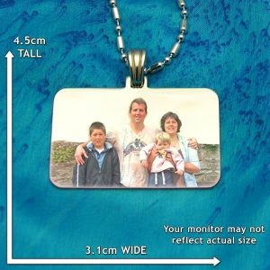 Family Rectangle Colour Photo Pendant