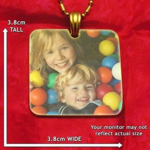 Large Square Colour Photo Pendant