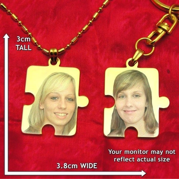 Jigsaw Piece Colour Photo Pendant