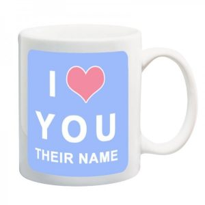 I Love you - Photo Mug- Pink