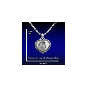 Photo Pendant - Diamante Heart - Small