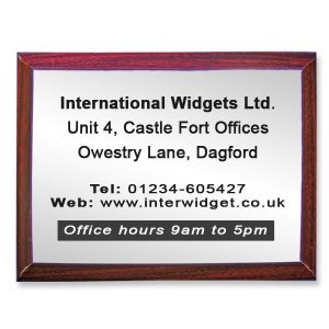 Extra Large Commemorative Plaque