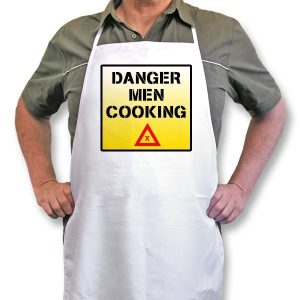"Personalised Apron ""Danger Men Cooking..."""