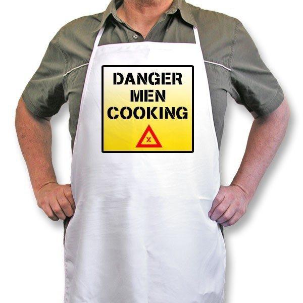 "Personalised Apron ""Danger Men Cooking..."""