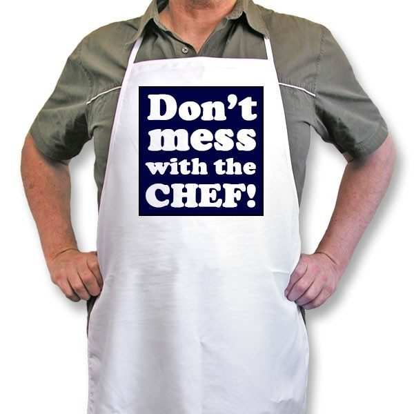 "Personalised Apron ""Don't mess with the chef!"""